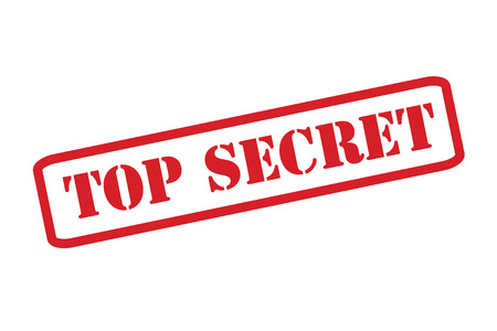 unknown: TOP SECRET Red Stamp over a white background. Illustration