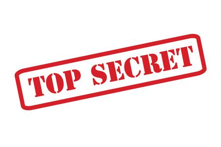 documentation: TOP SECRET Red Stamp over a white background. Illustration