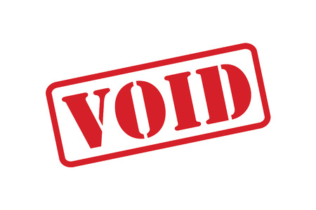 void: red rubber stamp over a white background.