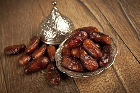 Dried date palm fruits or kurma, ramadan ( ramazan ) food photo