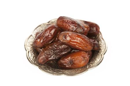 Dried date palm fruits or kurma, ramadan ( ramazan ) food Standard-Bild