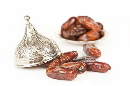 Dried date palm fruits or kurma, ramadan ( ramazan ) food photo