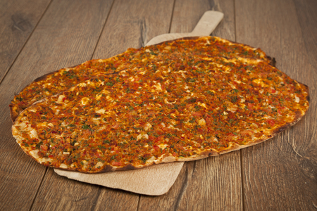 Turkish specialty pizza lahmacun pide