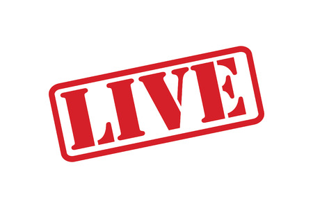 LIVE Rubber Stamp over a white background.
