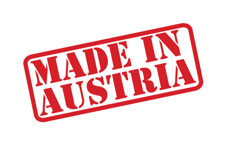 MADE IN AUSTRIA Rubber Stamp over a white background. Vector
