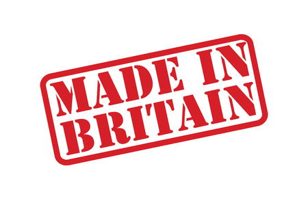 MADE IN BRITAIN Rubber Stamp over a white background. Vector