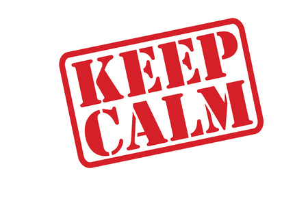 pressurized: KEEP CALM Rubber Stamp over a white background.