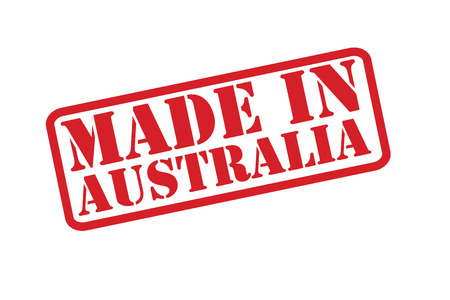 MADE IN AUSTRALIA Rubber Stamp over a white background. Vector