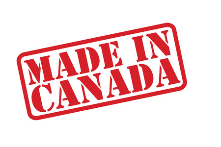 MADE IN CANADA Rubber Stamp vector over a white background. Vector