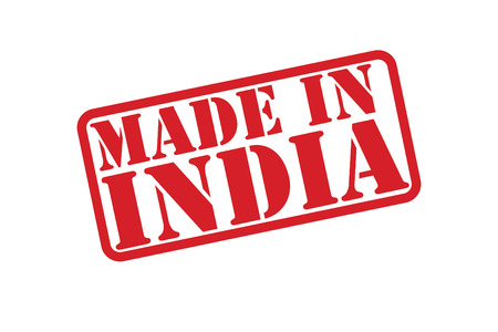 made manufacture manufactured: MADE IN INDIA Rubber Stamp over a white background.