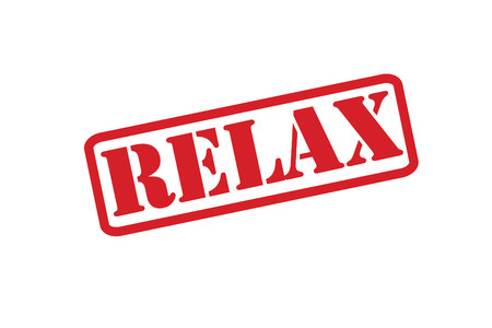 pressurized: RELAX Rubber Stamp