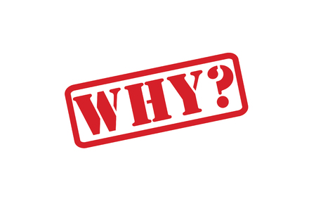 huh: WHY Rubber Stamp  Illustration
