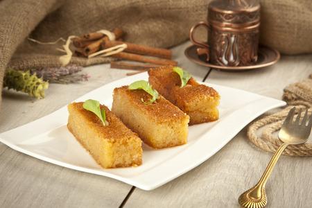 turkish dessert: Ramadan Dessert sam tatlisi traditional Turkish sweet Stock Photo