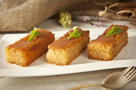 Ramadan Dessert sam tatlisi traditional Turkish sweet Stock Photo
