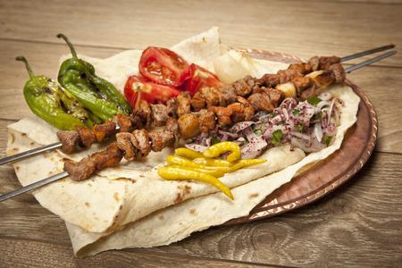 Turkse Sis Kebab Stockfoto