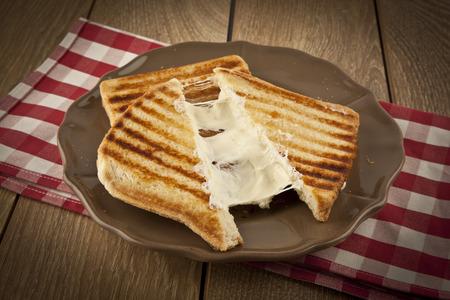 oasted cheddar cheese sandwich turkish toast Standard-Bild