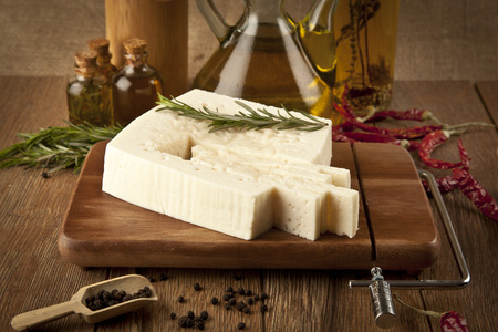 edam: feta cheese concept photo Stock Photo