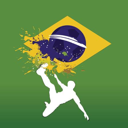brasilia: soccer poster brasil