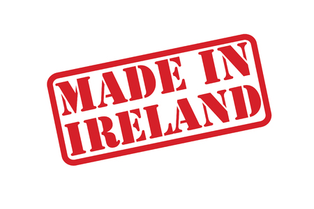 MADE IN IRELAND red rubber stamp over a white background. Vector
