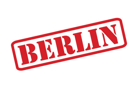 BERLIN Rubber Stamp vector over a white background.  イラスト・ベクター素材