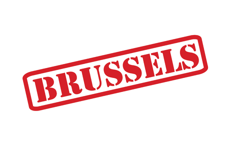 BRUSSELS Rubber Stamp vector over a white background. Vector