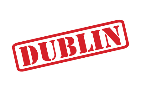 eire: DUBLIN Rubber Stamp vector over a white background.