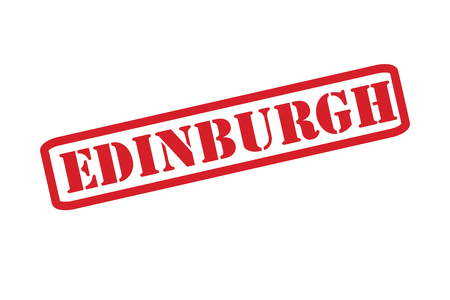 edinburgh: EDINBURGH Rubber stempel vector op een witte achtergrond.