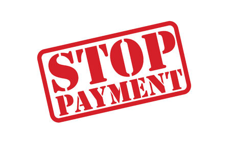 installment: STOP PAYMENT Rubber Stamp vector over a white background.