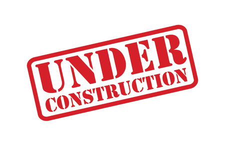 UNDER CONSTRUCTION Rubber Stamp vector over a white background.