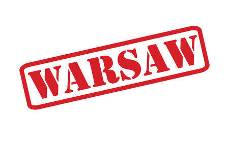warsaw: WARSAW Rubber Stamp vector over a white background.