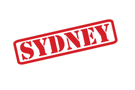 SYDNEY red rubber stamp vector over a white background. Vector