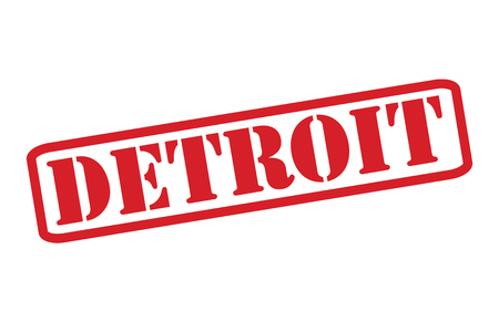 DETROIT Red Rubber Stamp over a white background. Vector