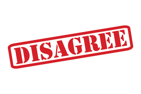 DISAGREE Red Rubber Stamp over a white background.