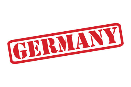 GERMANY Red Rubber Stamp over a white background. Vector