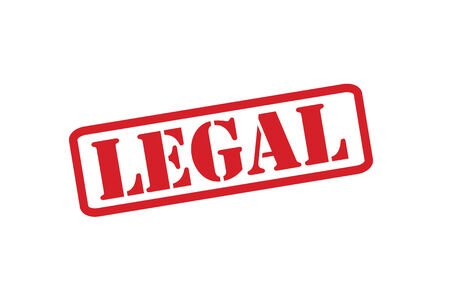 not permitted: LEGAL Red Rubber Stamp over a white background.