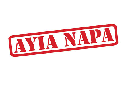 napa: AYIA NAPA Red Rubber Stamp vector over a white background.