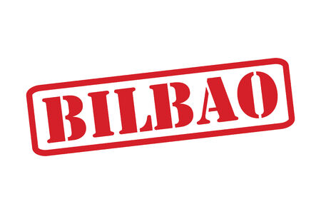 bilbao: BILBOA Red Rubber Stamp vector over a white background.