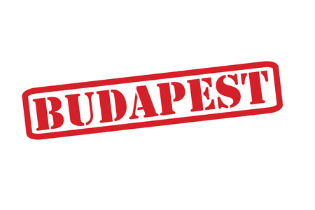 BUDAPEST Red Rubber Stamp vector over a white background. Vector