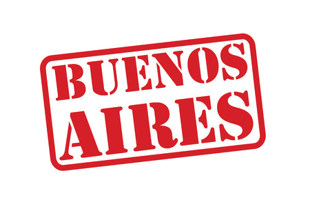 aires: BUENOS AIRES Red Rubber Stamp vector over a white background. Illustration