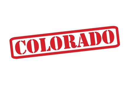 colorado springs: COLORADO Red Rubber Stamp vector over a white background.