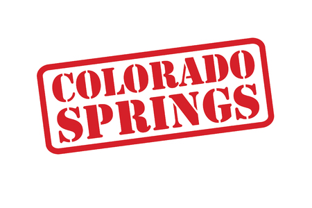 colorado springs: COLORADO SPRING Red Rubber Stamp vector over a white background. Illustration