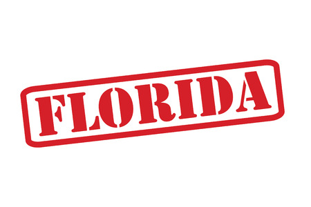 FLORIDA Red Rubber Stamp vector over a white background. Vector