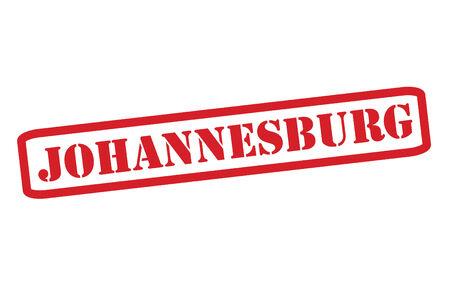 JOHANNESBURG Red Rubber Stamp vector over a white background. Illustration