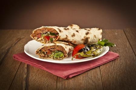 Doner Adana Kebab with Lahmacun Standard-Bild