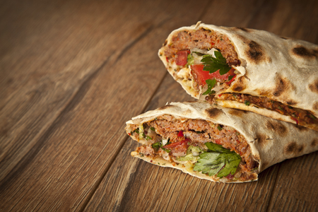 Doner Adana Kebab with Lahmacun photo