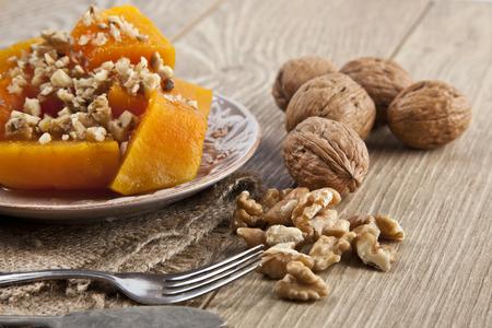 Turkish traditional Pumpkin Dessert ( kabak tatlisi ) photo