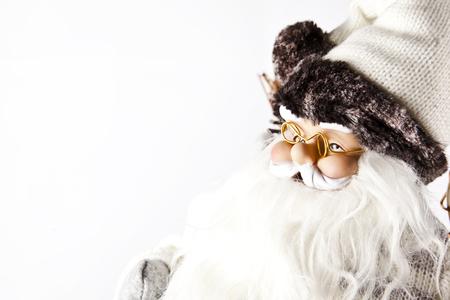xmas background: Santa Claus X-Mas white background