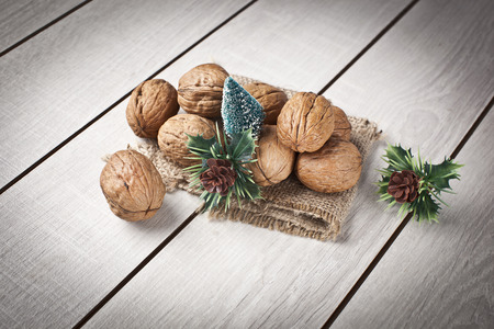 Walnuts with christmas xmas orient products photo