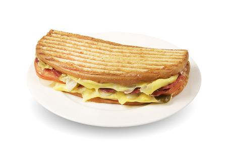 Ayvalik Tostu- Turkish traditional toast sandwich Archivio Fotografico
