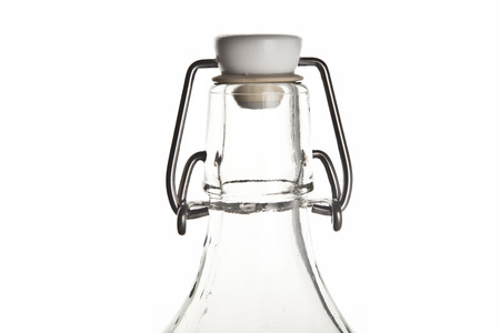 whitern: Bottle Ice and water with white background